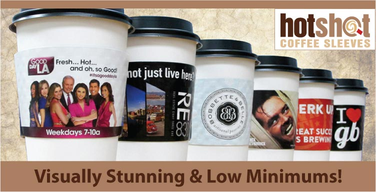 HotShot Coffee Sleeves - Visually Stunning and Low Minimums!
